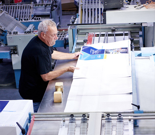 Healthcare Brochure in Folding Machine