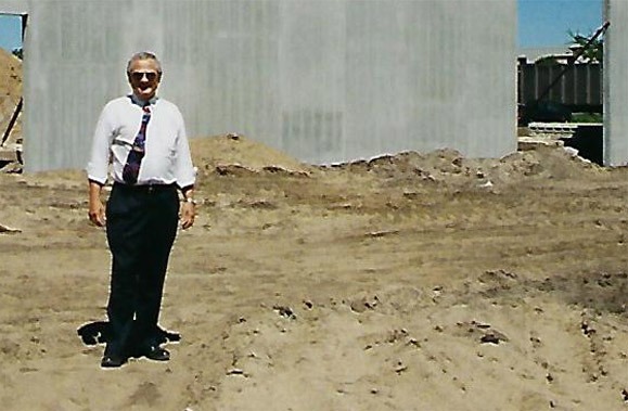 Bud Koloski at building site in Minneapolis, MN