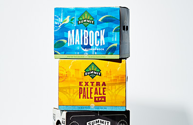 Summit Brewery Boxes with Litho Labels