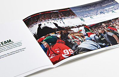 Printed Mailer for Minnesota Wild Hockey Team